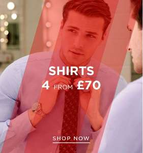 TM Lewin 4 Shirts for £70 - Includes some non-iron shirts