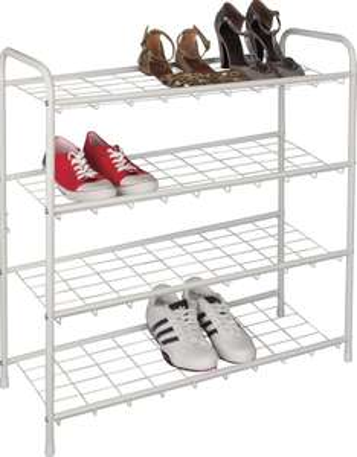 Argos Home 4 Shelf Shoe Storage Rack - White ( 6 Tier Rack £23.80) - £14.25 + Free Click & Collect @ Argos
