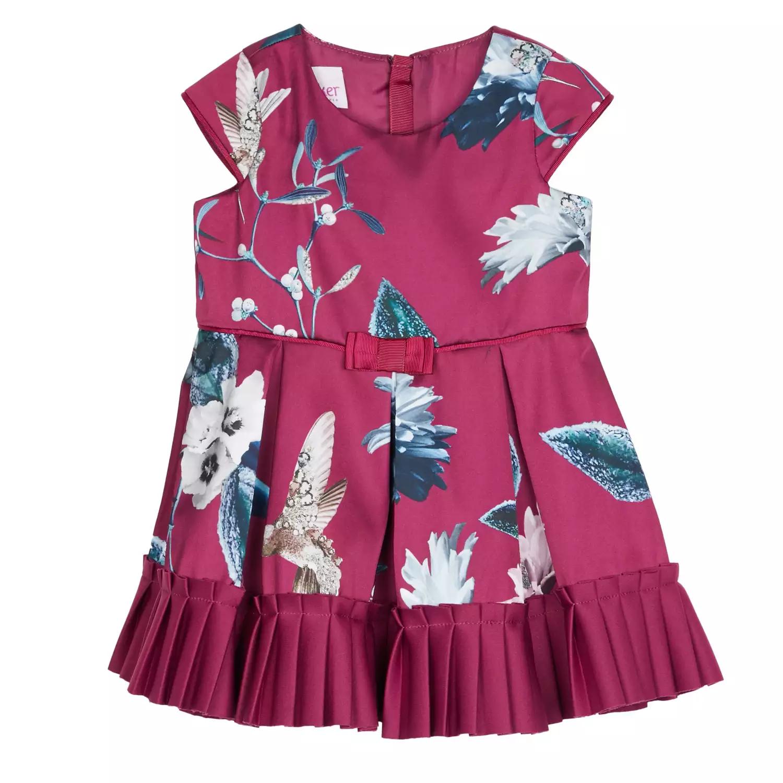 70% off on Ted baker Baby at Debenhams - Baker by Ted Baker - Baby Girls' Plum Floral Hummingbird Print Dress £11.40