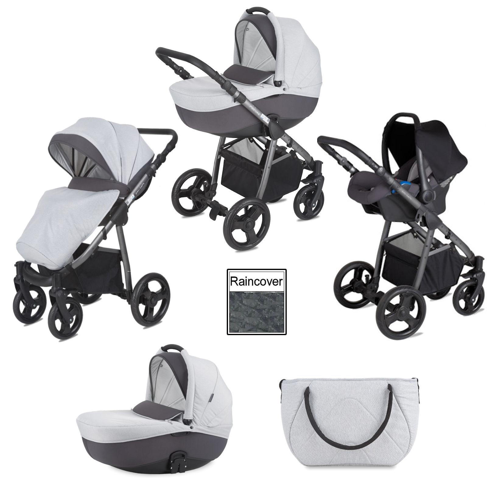 Mini Uno Stride Travel System 3-in-1 pram pushchair in Grey Melange for £269.95 delivered @ Online4Baby
