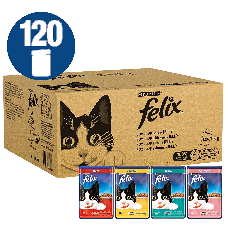 Felix Mixed Fish & Meat 100g x120 now £23.19 Amazon