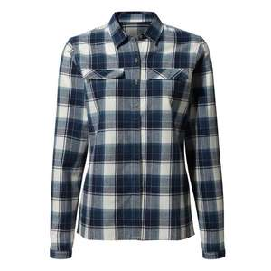 Womens Dauphine Long-Sleeved Blue Check Shirt 50% Off + Extra 5% with Code £15.20 + Free Click and collect @ Craghoppers