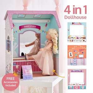 Olivias Little World Pink Classic 4 in 1 Convertible Playhouse £26.00 @ Tkmaxx (£1.99 C&C)