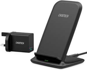 CHOETECH 15W/10W/7.5W Wireless Charger with QC 3.0 Adapter £17.99 Prime / £22.48 Non Prime Sold by Sinkivi and Fulfilled by Amazon
