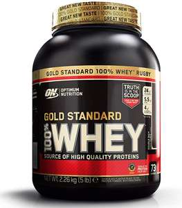 Optimum Nutrition Gold Standard Whey Double Rich Chocolate, 74 Servings, 2.27 kg £24.99 / £23.74 s&s / £17.74 first subscription @ Amazon