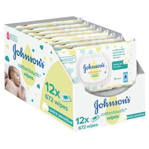 Johnson's Baby Cotton Touch Wipes 12X56 Pieces (672 Wipes) for £6 @ Tesco