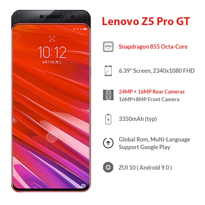 Lenovo Z5 Pro GT Global ROM Snapdragon 855 Smartphone 8GB RAM 256GB £162.94 at Lenovo Aliexpress store