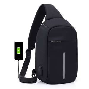 Anti-Theft Sling Shoulder Bag with USB Charger Function for £6.71 Delivered @ TomTop