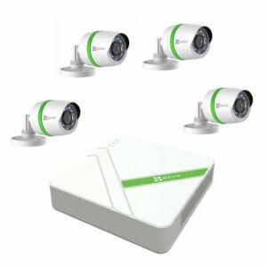 EZVIZ Full HD 1080p 8 Channel, 4 x 1080p Bullet Cameras & 1TB DVR CCTV Kit £98.56 - Ebay/Ebuyer