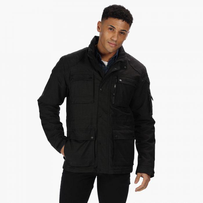 Regatta Men's Erving Waterproof Jacket With Concealed Hood - Black £37.79 + Free click & collect @ Hawkshead