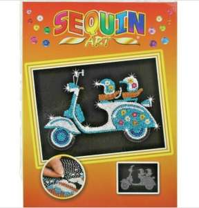 Sequin art set (choice of) £3.99 @ homebargains prenton / wirral