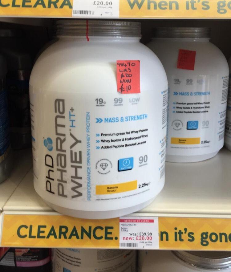 PhD Pharma Whey 2.25kg (90 servings) - £10 @ Holland and Barrett (Doncaster)
