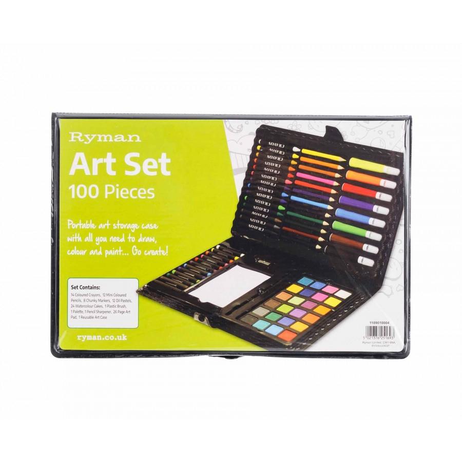 Ryman Art Set 100 Piece £4.66 @ Ryman's (Free C&C)