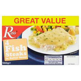 Ross 4 Fish Steaks in Butter Sauce 560g - £2 @ Iceland