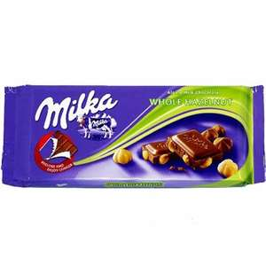 Milka whole hazelnut chocolate 2 for 99p @ Sam99