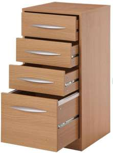 Argos Home 4 Drawer Filing Cabinet - Oak Effect - £43.55 + Free Click and Collect @ Argos