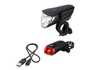 Crivit USB rechargeable bicycle light set now only £7.99 instore @ Lidl Paisley