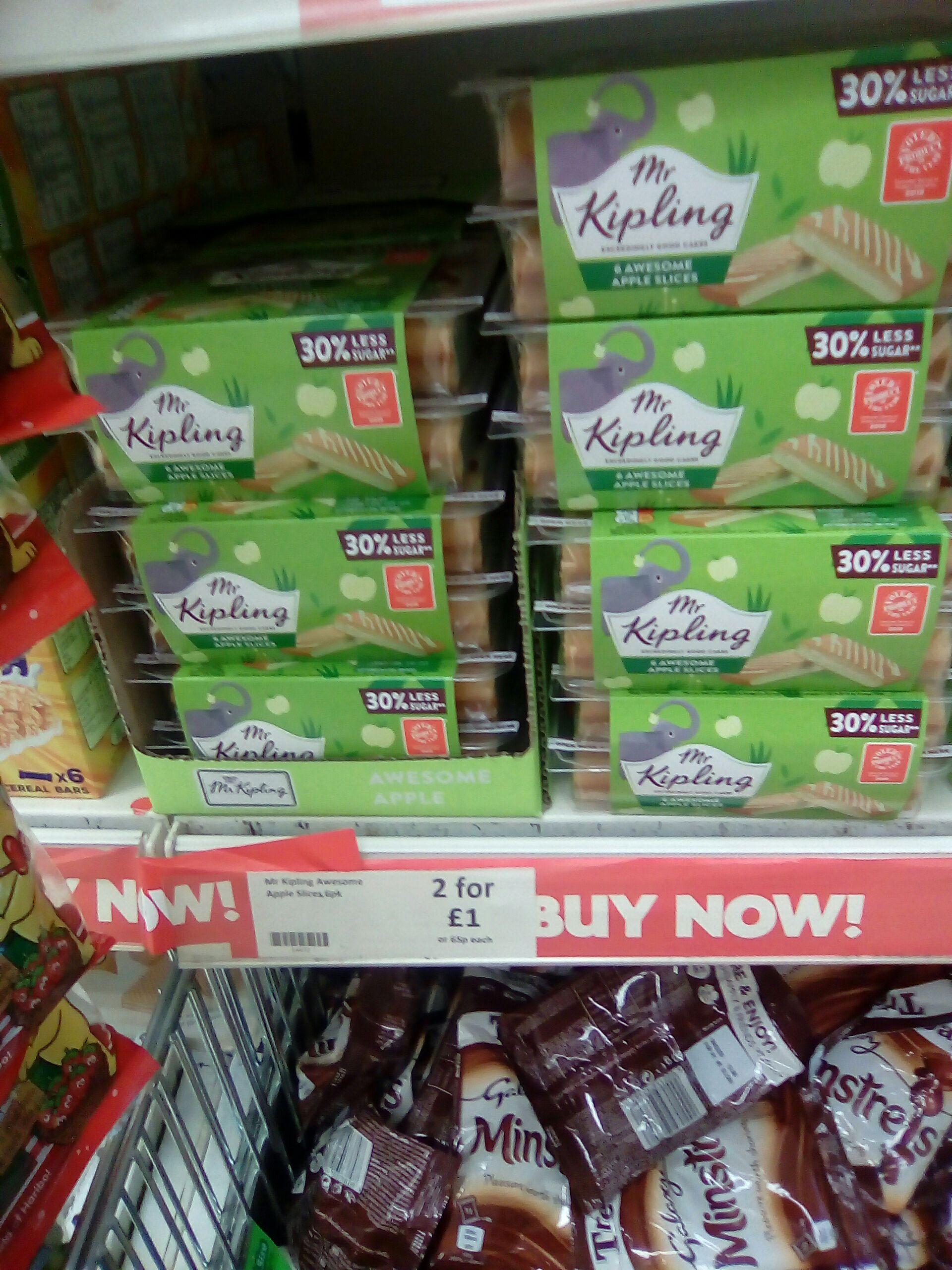 Mr Kipling 2X 6 Pack Awesome Apple sponge slices £1 @ Heron Foods ( E.Port )