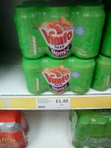Vimto 6X 330ml Remix Fizzy No Added Sugar Mixed Fruit Juice Drink - £1.49 @ Heron Foods ( E.Port )