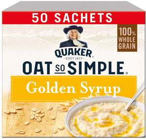 Quaker Oat So Simple Golden Syrup Porridge Sachets, 50 x 36 g £5.56 @ Amazon - Free Delivery for Prime members (+£4.49 non-Prime)