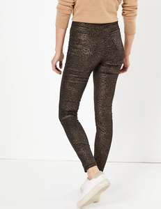 Coated leopard print high waist jeggings at Marks & Spencer for £5.50 (free C&C)