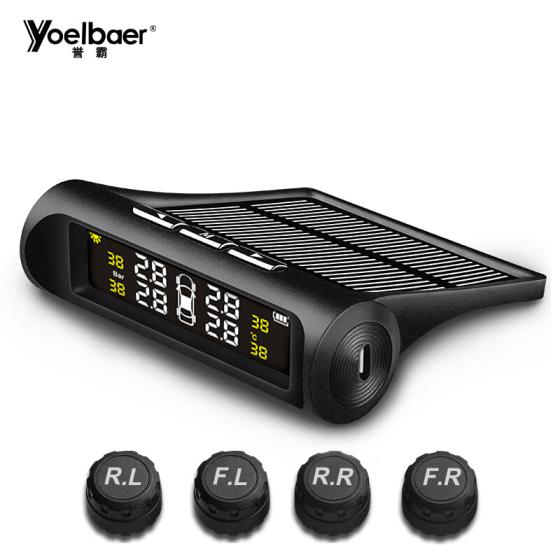 Yoelbaer Solar-Powered Tire Pressure Monitor, External monitor YB-68 at Joybuy for £18.77