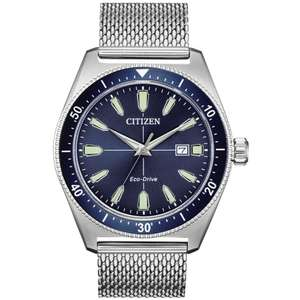 Citizen AW1591-52L Men's Sport Date Mesh Bracelet Strap Watch £109.50 at John Lewis and Partners