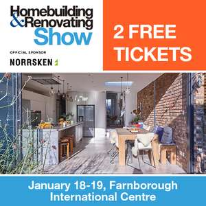 2 FREE TICKETS to The South East Homebuilding & Renovating Show, worth £24