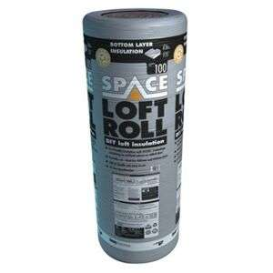 Knauf 100mm Space Bottom Layer Loft Roll Insulation - 8.3m2 £12 Per Roll Using Click & Collect @ Wickes