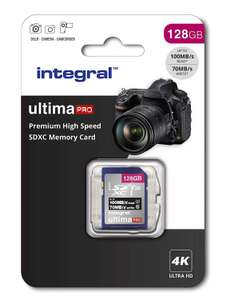 128Gb SD Card 4K Ultra-HD Video Premium High Speed Memory Card SDXC now £13.99 (Prime) + £4.49 (non Prime) at Amazon