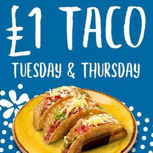 £1 Taco today only @ Chiquito