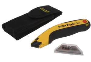 Stanley FatMax Retractable Utility Knife Holster & 5 Blades, £7.45 delivered at FFX