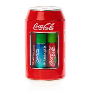 50% off Claire's Lipsmacker Six soda flavoured lip balms are inside this soda can shaped container £6.00 + Free Click & Collect @ Claires