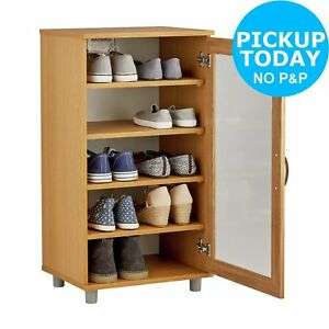 Argos Home Contemporary Shoe Storage Cabinet - Oak Effect £40 + free Click and Collect @ Argos / eBay