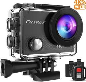 Crosstour Action Camera 4K 20MP Wifi Underwater 30M with Remote Control IP68 Waterproof Case £31.97 Sold by Boya EU & Fulfilled by Amazon.