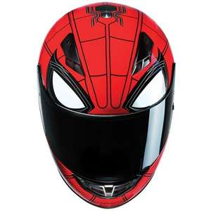 HJC Spiderman motorcycle helmet £74.99 @ Sports bike shop