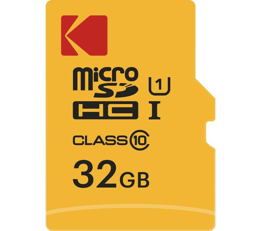 KODAKExtra Class 10 microSDHC Memory Card - 32 GB - £4.99 @ Currys