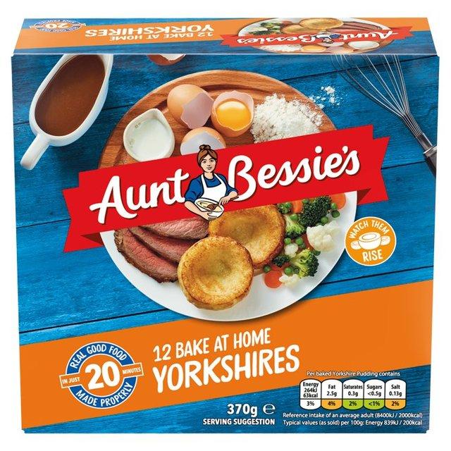 Aunt Bessie's 12 Bake At Home Yorkshires 370g £1 @ Morrisons Instore & Online