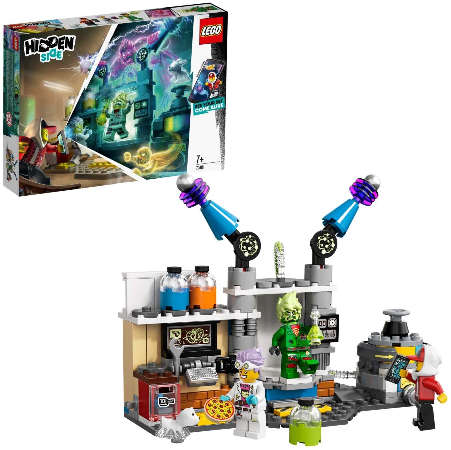 LEGO 70418 Hidden Side J.B.'s Ghost Lab Set, AR Games App £13.50 + £4.49 NP @ Amazon