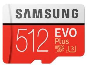 Samsung EVO Plus Micro SDXC UHSI U3 Card with Adapter 512GB Read up to 100MB/s Write up to 90MB/s for £78.99 Delivered @ Picstop
