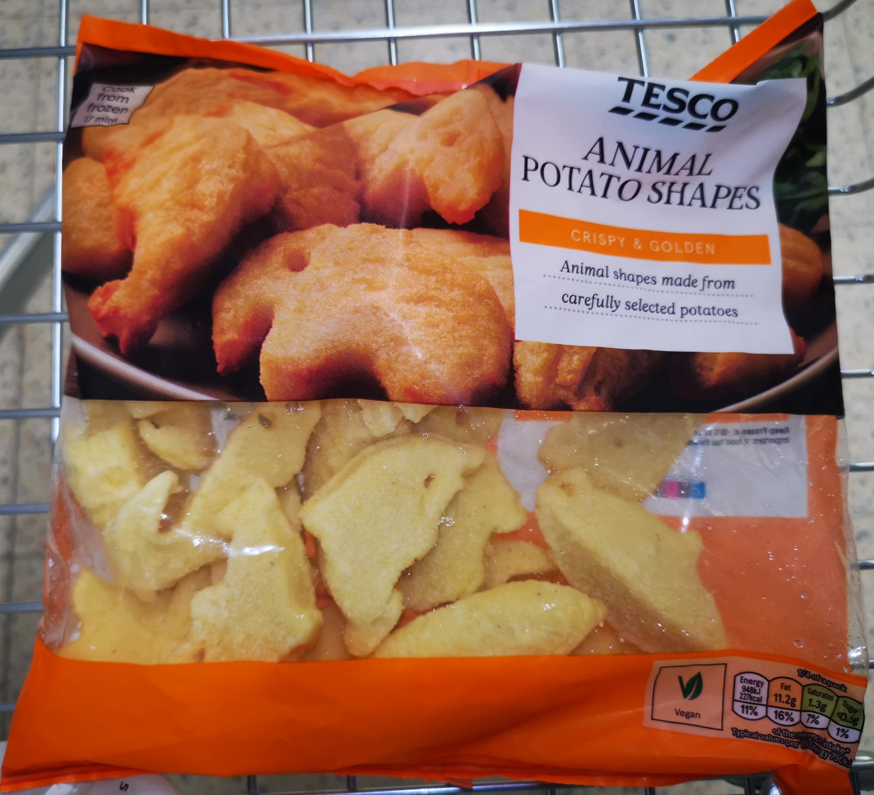 Animal Potato Shapes 500g, 25p Reduced To Clear @ Tesco Metro St Enoch, Glasgow