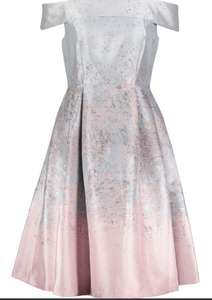 Blue & Pink Mottle Midi Dress £29.99 + £1.99 click and collect @ TK Maxx