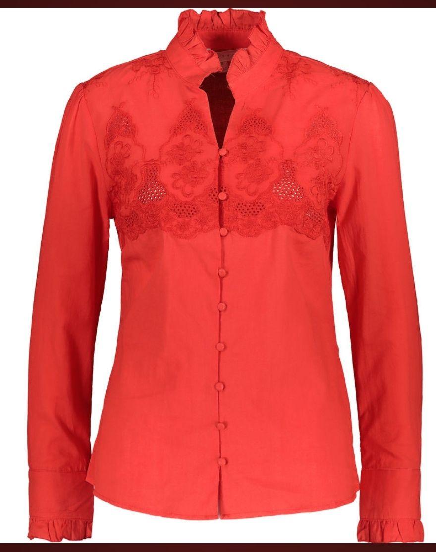 ADIVA Poppy Red Shirt £16.99 + £1.99 click and collect @ Tk Maxx