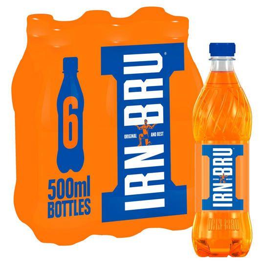 Irn bru 6 X 500ml bottles £2.75 @ iceland