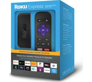 ROKU Express Smart Streaming Player + 3 HD movies from Rakuten TV for £17.97 delivered @ Currys PC World