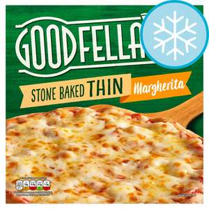 Goodfella's Stonebaked Thin Pizzas (Margherita, Meat feast, Chicken or Pepperoni) £1.12 @ Tesco