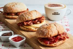 Enjoy a Sausage, Bacon or Vegan Ciabatta for just £2 with any coffee before 11am @ Caffé Nero
