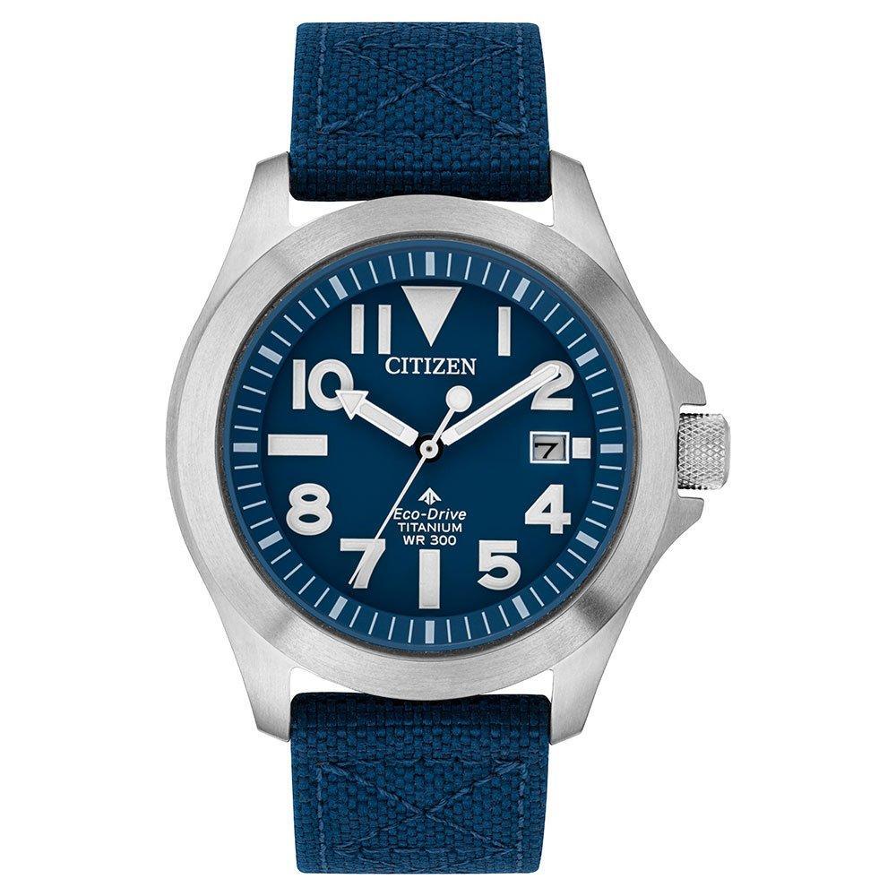 Citizen Eco-Drive Titanium Men's Watch - Blue, super tough, Kevlar strap £183 at Beaverbrooks