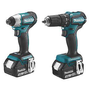 MAKITA DLX2221S 18V 3.0AH LI-ION LXT Brushless Cordless Combi Drill & Impact Driver Twinpack £229.99 @ Screwfix