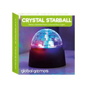 Global Gizmos Battery Operated Crystal Starball Disco Light now £2.99 (Prime) + £4.49 (non Prime) at Amazon